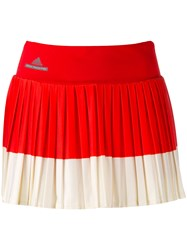 Adidas By Stella Mccartney Contrast Pleated Skirt Red