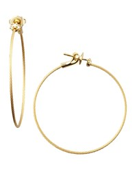18K Yellow Gold Diamond Cluster Hoop Earrings 40Mm Paul Morelli Yellow Gold