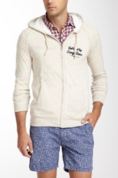 Scotch And Soda Hooded Jersey Lined Sweater White