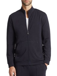 Saks Fifth Avenue French Terry Zip Jacket Navy