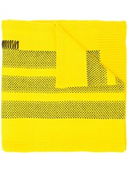 Y 3 Boxy Lace Detail Scarf Yellow And Orange