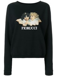 Fiorucci Logo Print Sweatshirt Cotton Black