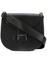 Michael Kors Saddle Crossbody Bag Women Calf Leather Calf Suede One Size Black