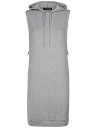 Jaeger Hooded Sweatshirt Dress Grey