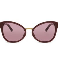 3.1 Phillip Lim Pl102 Cat Eye Sunglasses Burgundy And Bronze