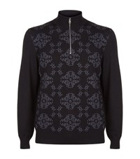 Billionaire Monogram Sweater Male Black