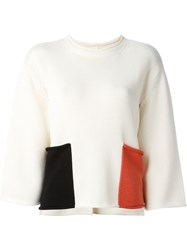 Ports 1961 Contrast Pocket Jumper Nude And Neutrals