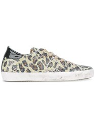 Philippe Model Leopard Print Sneakers Yellow Orange