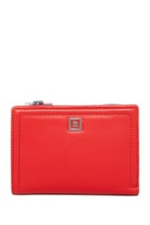 Lodis Classic Leather Lisa Flip Small Index Wallet Orange