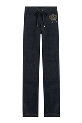 Juicy Couture Velour Track Pants Blue