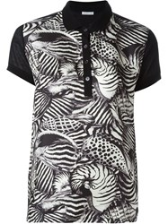 Moncler Animal Print Polo Shirt Black