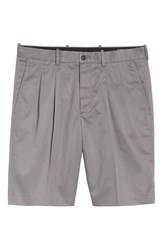 Nordstrom Shop Pleated Supima Cotton Shorts Grey Shade