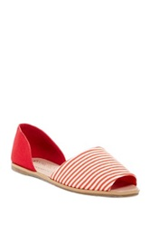 Restricted Hug Me Striped Two Piece Sandal Red