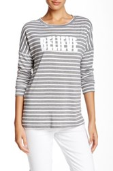 Cj By Cookie Johnson Striped Boatneck Tee