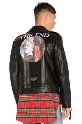 Off White Carryover De Chirico Biker Jacket Black