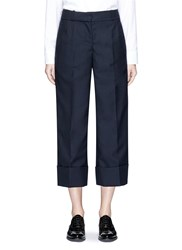 Thom Browne Wool Low Rise Suiting Culottes Blue