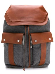 Brunello Cucinelli Two Tone Backpack Grey