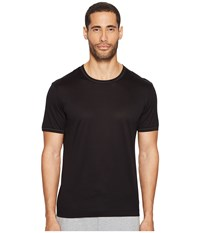Dolce And Gabbana Tailored Stitches Round Neck Tee Black