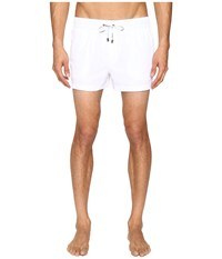 Dolce And Gabbana Solid Mid Cut Swim Shorts White