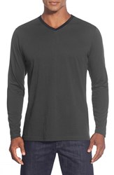 Men's Robert Barakett 'Smith' V Neck Long Sleeve T Shirt Cannon