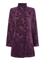 Tigi Floral Tapestry Coat Purple