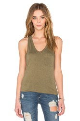 Alexander Wang Classic Tank With Pocket Green