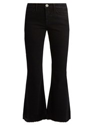 Mih Jeans Lou High Rise Flared Cropped Black