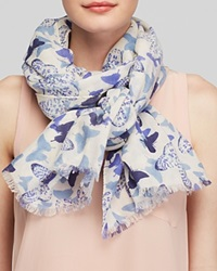 Lola Rose Textured Abstract Butterfly Scarf Pale Blue