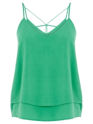Oasis Double Layer Cami Top Mid Green