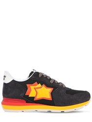 Atlantic Stars Antares Suede And Nylon Running Sneakers Anthracite
