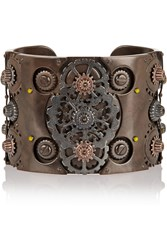 Bottega Veneta Oxidized And Rose Gold Plated Sterling Silver Cuff