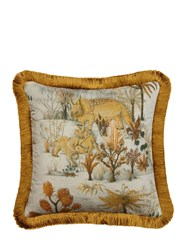 House Of Hackney Dinosauria Medium Cotton Pillow Multicolor