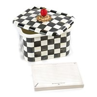 Mackenzie Childs Courtly Check Enamel Recipe Box