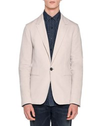Lanvin Wool One Button Blazer Chalk White