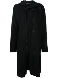 Rundholz Zip Up Hooded Coat Black
