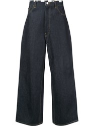 Facetasm Wide Leg Jeans Men Cotton 3 Blue