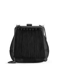 Reiss Jinx Tassel Detail Evening Bag In Black Womens