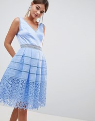 Chi Chi London Cutwork Lace Prom Dress Sky Blue