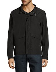 Cole Haan Packable Rain Jacket Black