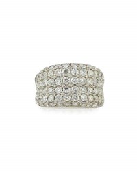 Diana M. Jewels 18K White Gold Wide Pave Diamond Band Ring 3.5Tcw