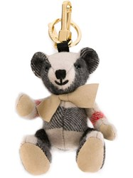 Burberry 'Thomas' Bear Keyring Nude And Neutrals