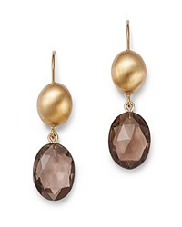 Bloomingdale's Smoky Quartz Oval Drop Earrings In 14K Yellow Gold 100 Exclusive Brown Gold