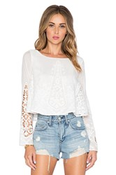 The Jetset Diaries Gypsy Blouse Ivory