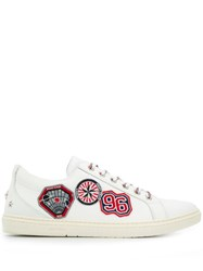 Jimmy Choo Cash Patch Embellished Sneakers White