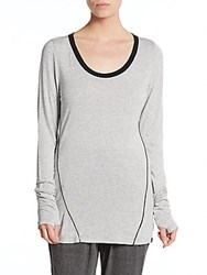 Koral Dash Long Sleeve Tee Heather Grey
