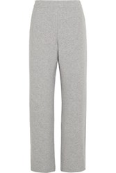 Joseph Lo Wool Blend Wide Leg Pants Light Gray