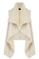 Oasis Faux Shearling Gilet Cream