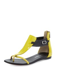Cnc Costume National Two Tone Leather Sandal Yellow Black