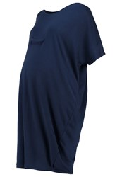 Mama Licious Mllanny Jersey Dress Navy Blazer Dark Blue