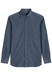 Brioni Slim Fit Denim Shirt Blue